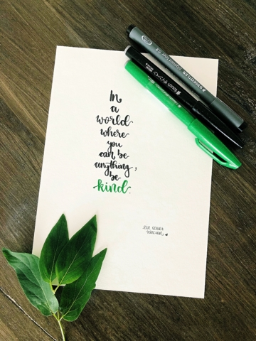FrameLettering - be kind